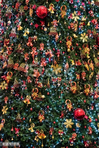 Decorated Christmas Tree Background Vertical Stock Photo More Pictures Of Backgrounds