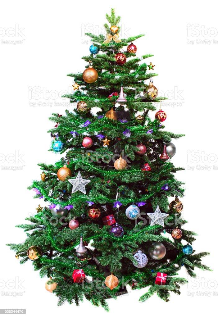 Decorado a árvore de Natal - foto de acervo