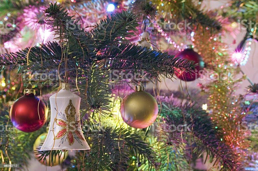 Albero di Natale decorato foto stock royalty-free