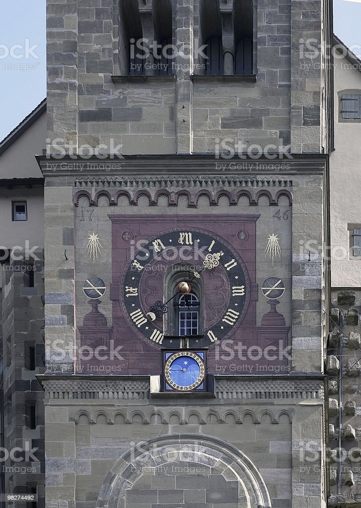 decorated church clock royalty-free stock photo