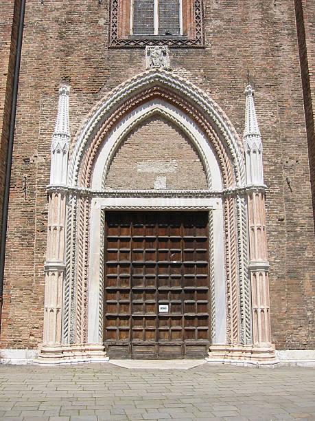 decorated church door in venice - fsachs78 stockfoto's en -beelden