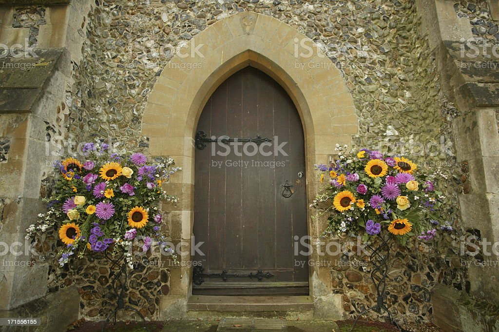 decorated church entrance royalty-free stock photo