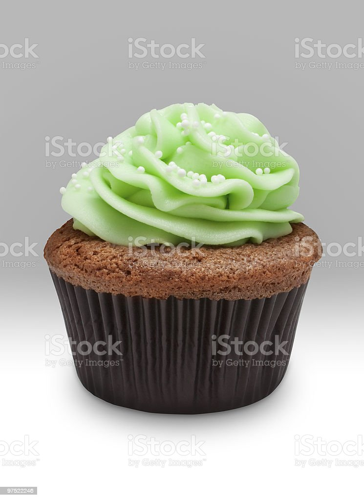 Decorated cupcake royalty-free stock photo