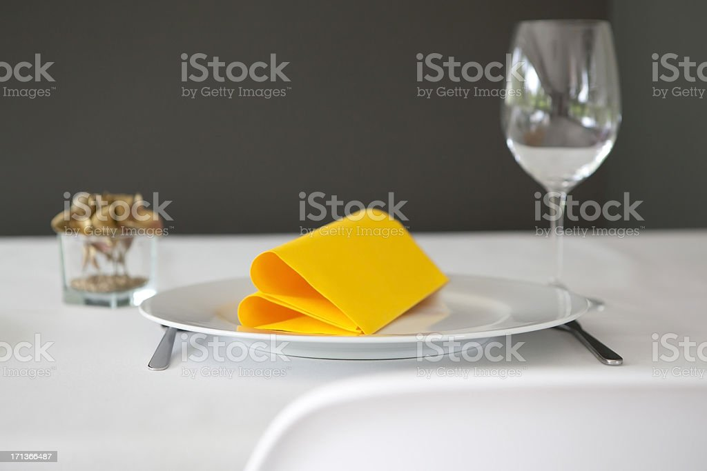 decorated dinner table at the restaurant royalty-free stock photo
