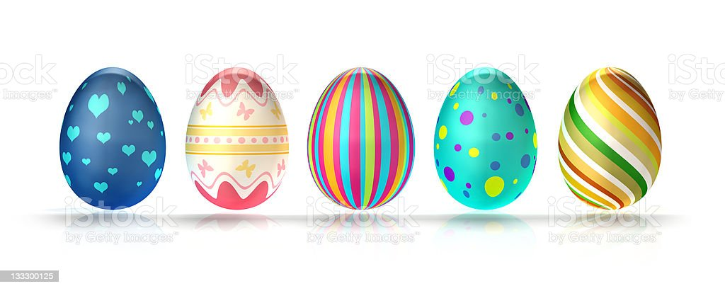 Decorated Easter Eggs (XXXL) royalty-free stock photo