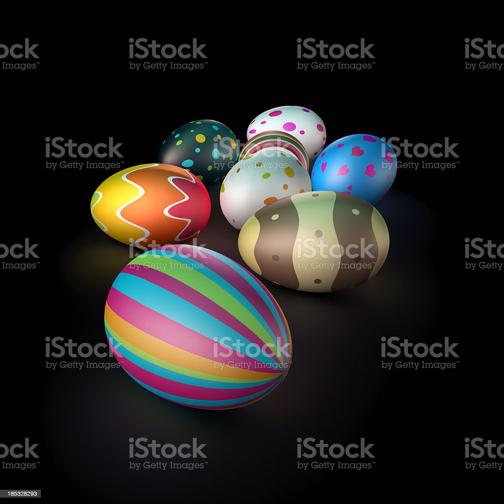 Decorated Easter Eggs (XXL) royalty-free stock photo