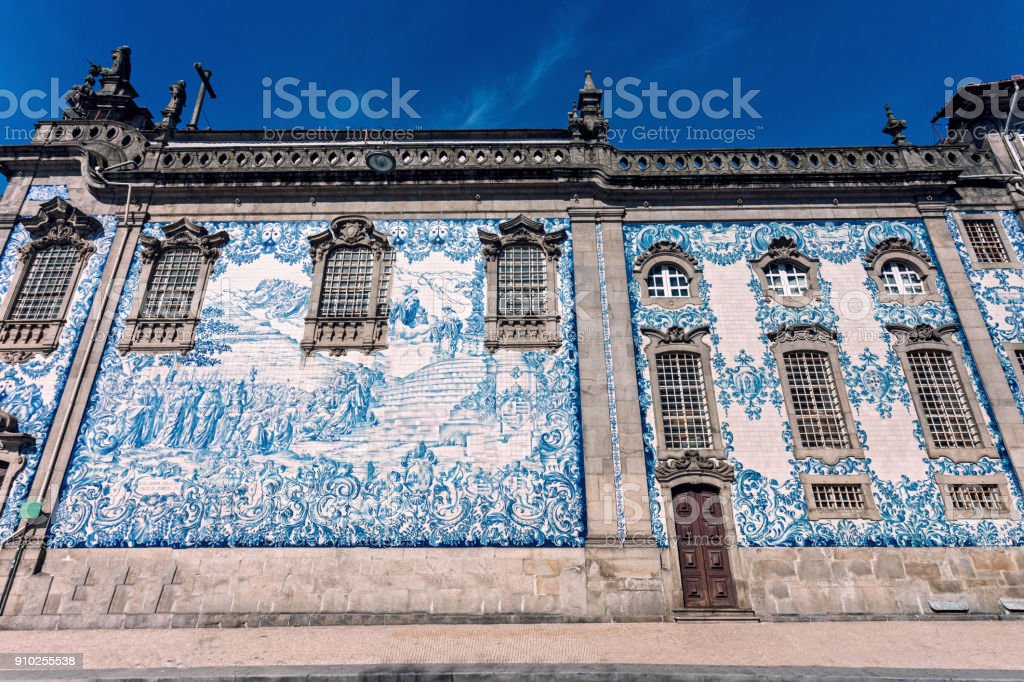 Decorated facade Porto stock photo