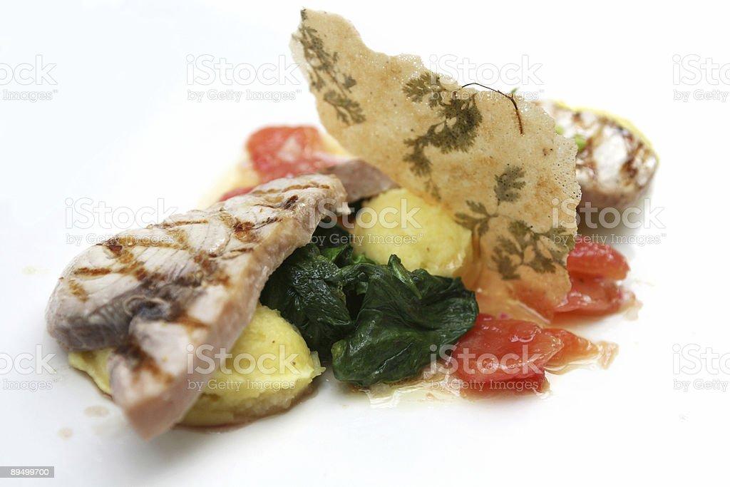 decorated fish dish royalty free stockfoto