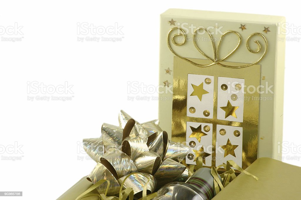 decorated gift box royalty-free stock photo