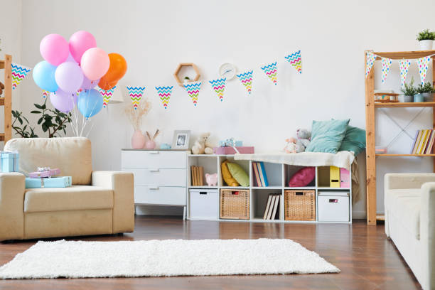 Decorated living-room stock photo