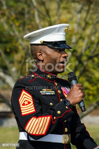 Decorated Marine Gives Keynote Speech At A Veterans Day ...