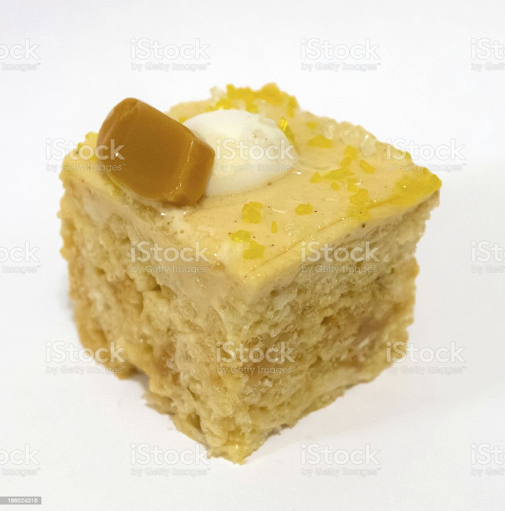 Decorated marshmallow square with caramel topping royalty-free stock photo