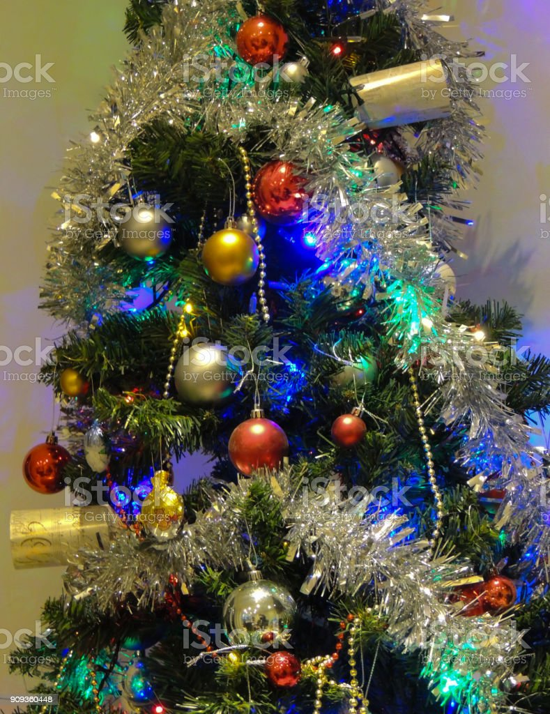 Decorated Modern Christmas Tree Stock Photo Download Image Now Istock
