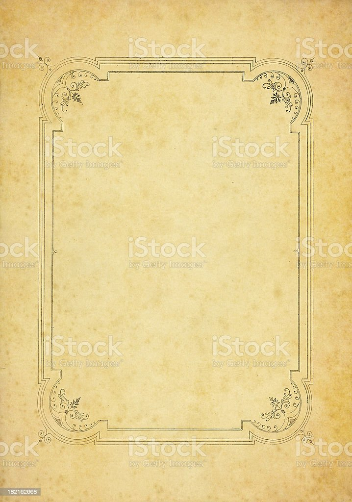 decorated old paper stock photo