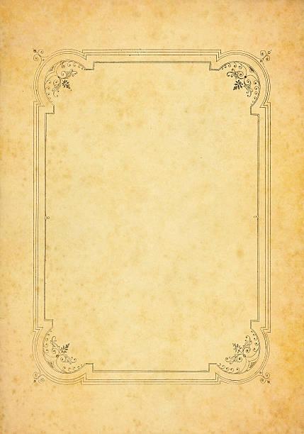vieux papier décorée - motif ornemental photos et images de collection