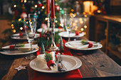 Decorated Place Setting for Christmas