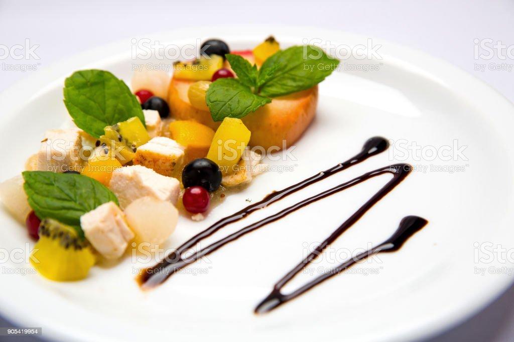 Decoración Plato Con Verduras Y Verduras Para Un Plato De