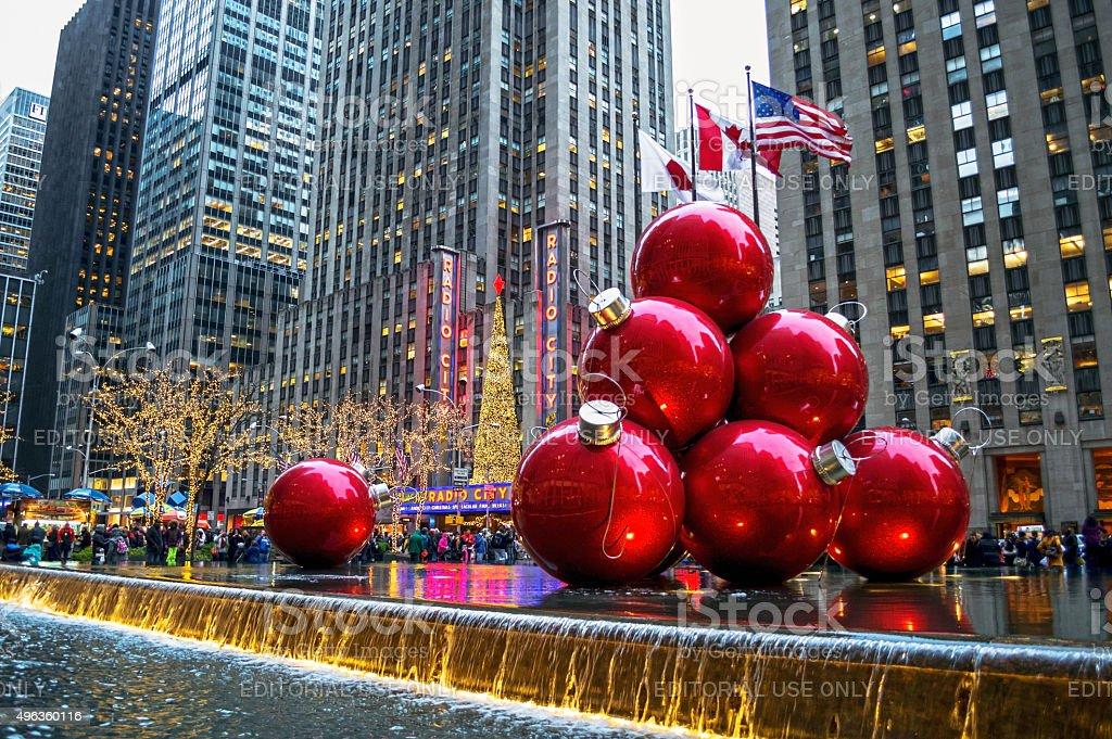 Decorated Radio City stock photo