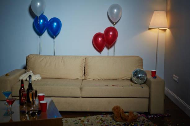 decorated room - partyraum stock-fotos und bilder