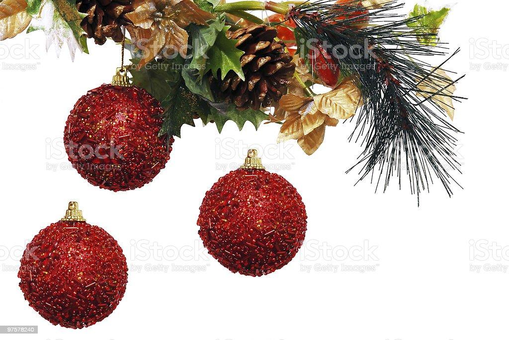Décorée de saison et fond de Noël photo libre de droits