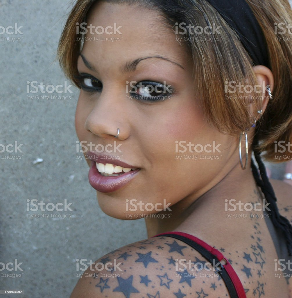 decorated smile royalty-free stock photo