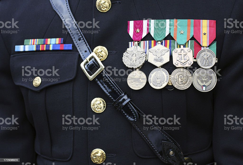 Decorated Soldier royalty-free stock photo