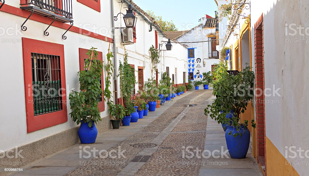 decorated spanih  street foto royalty-free