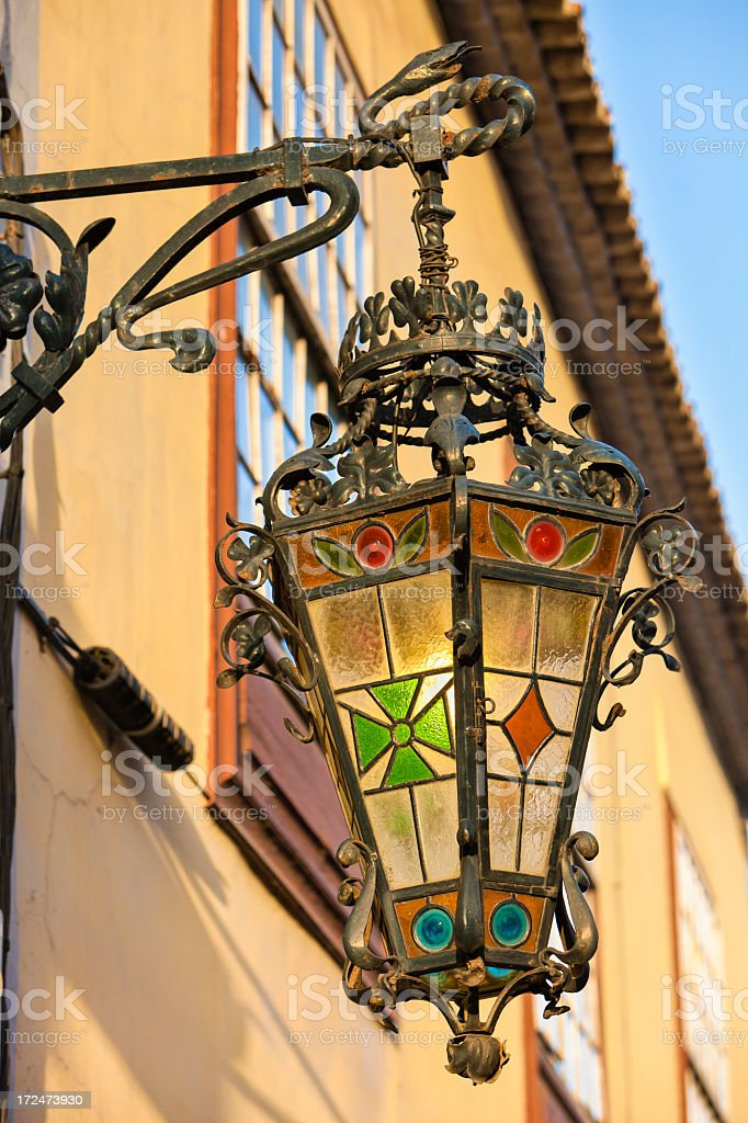 Decorated Street Light royalty-free stock photo