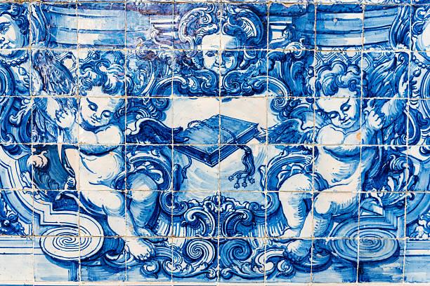 Decorata con piastrelle in ceramica, Capela das Almas (Cappella delle anime), Porto - foto stock