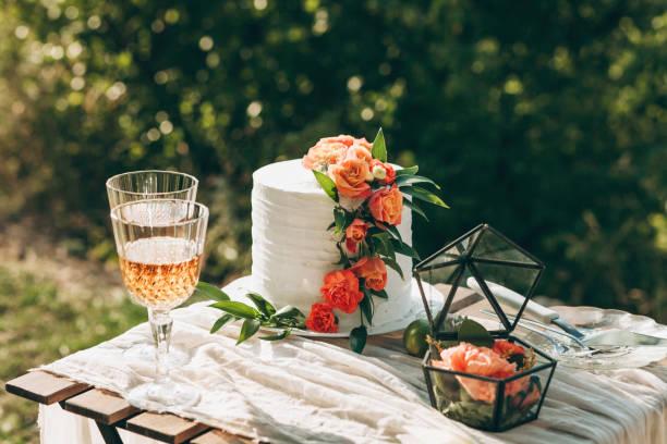 Dekorierte Hochzeitstorte – Foto