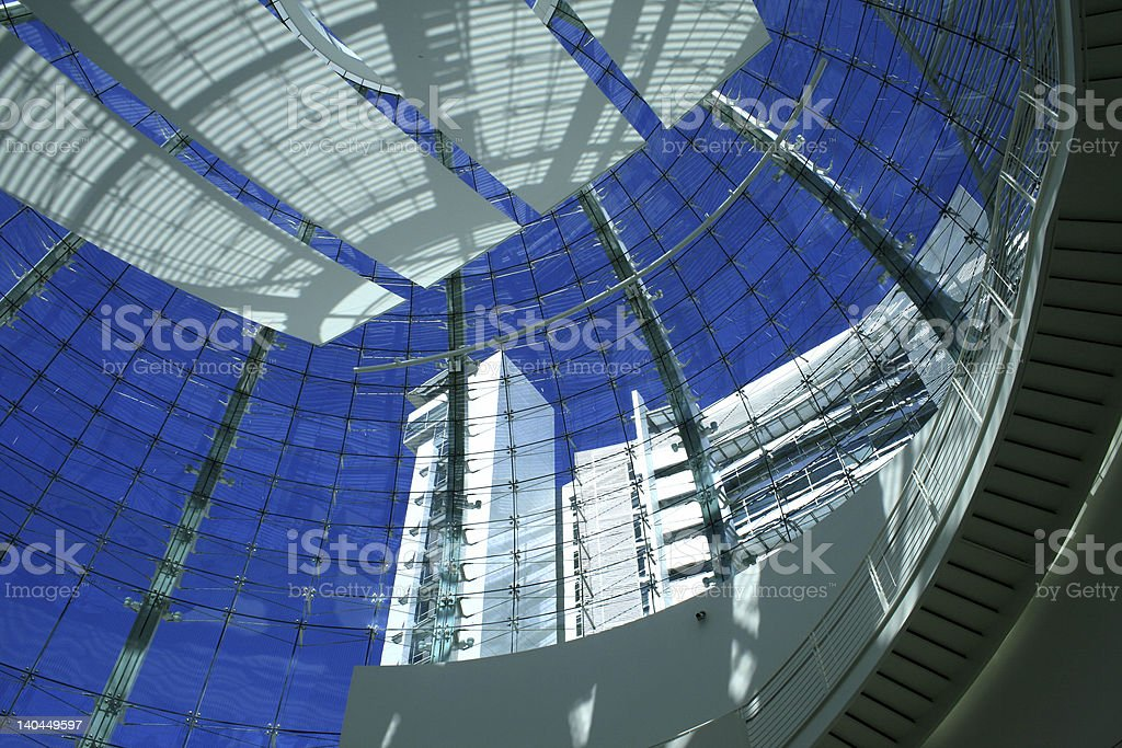 Decorated window dome. royalty-free stock photo