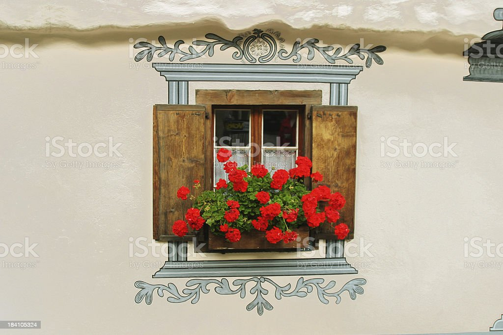 Decorated window stock photo