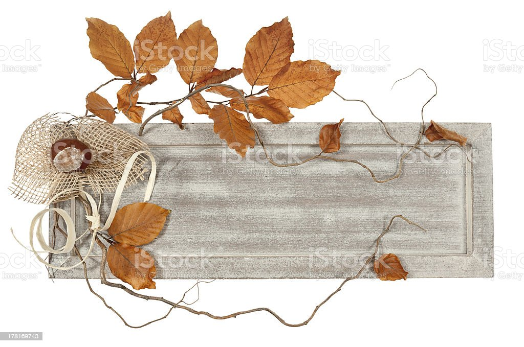 Decorated wooden board royalty-free stock photo