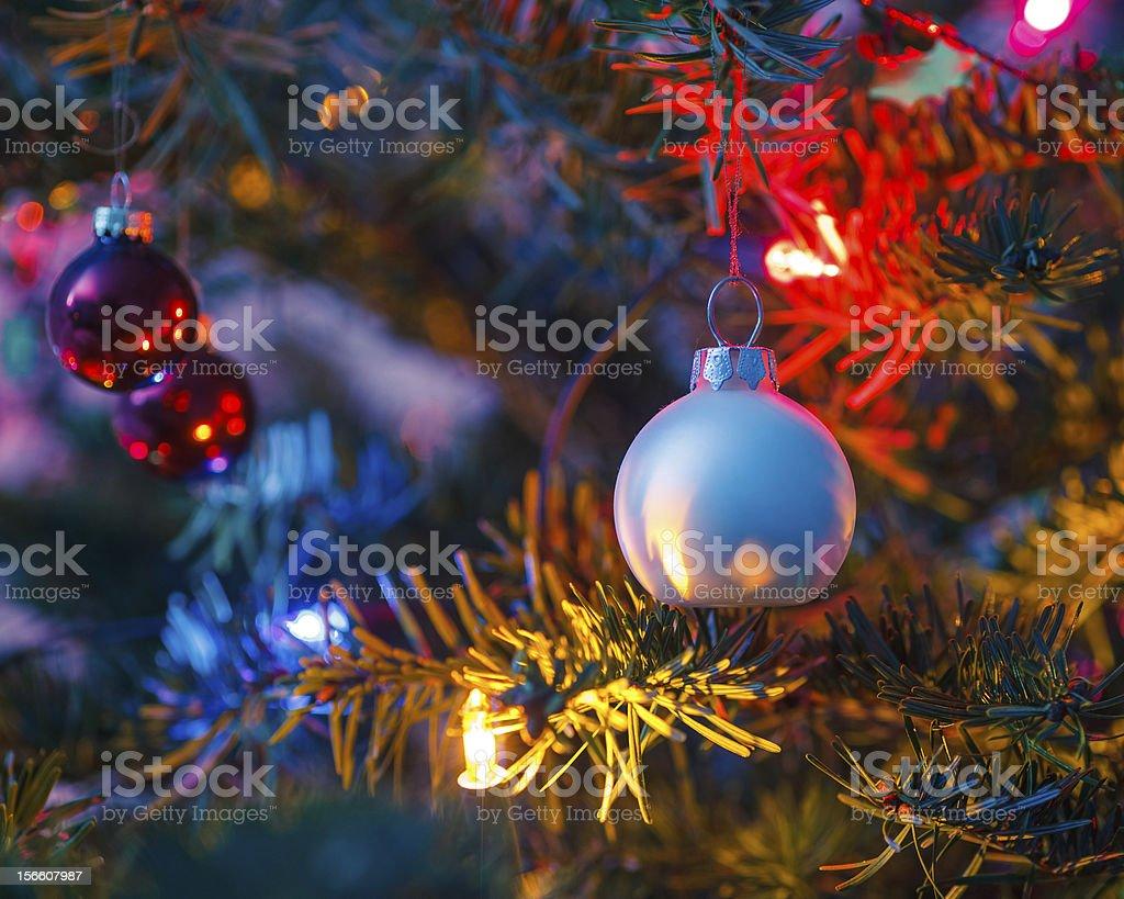 Decorated x-mas tree royalty-free stock photo