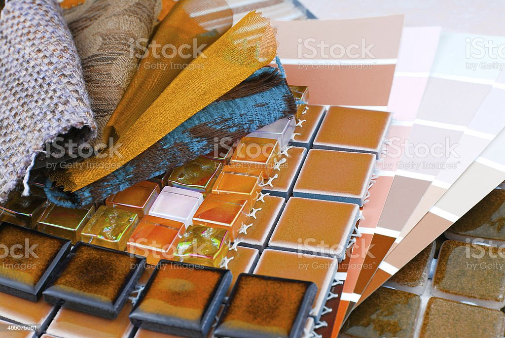 decorating and interior design choice stock photo