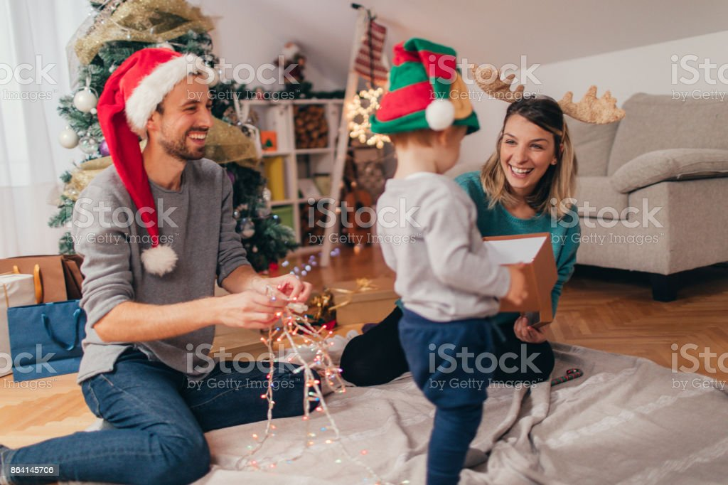 Decorating for Christmas holidays royalty-free stock photo