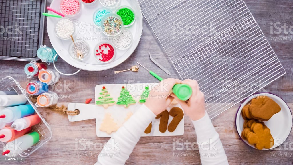 Decorating Gingerbread And Sugar Cookies With Royal Icing For