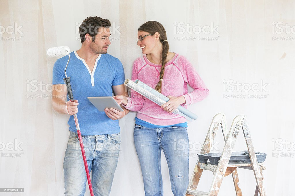 Decorating Plans stock photo