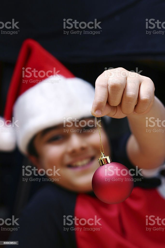 Decorating the Christmas Tree royalty-free stock photo