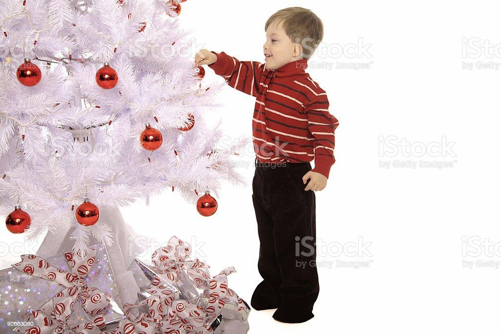 Decorating the tree. royalty-free stock photo