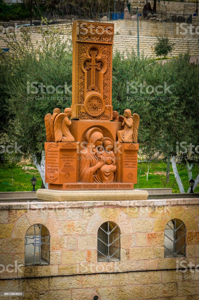 Decoration at the Tomb of the Virgin royalty-free stock photo