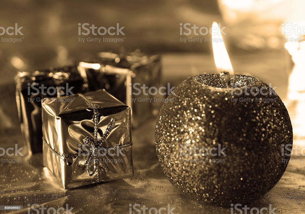 Decoration candle royalty-free stock photo