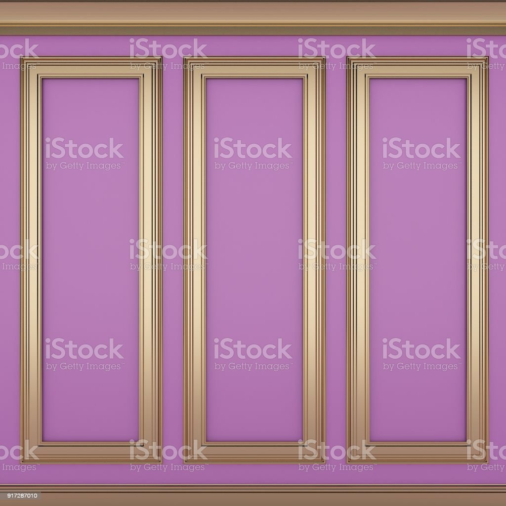 decoration classic pink wall ,3d render stock photo