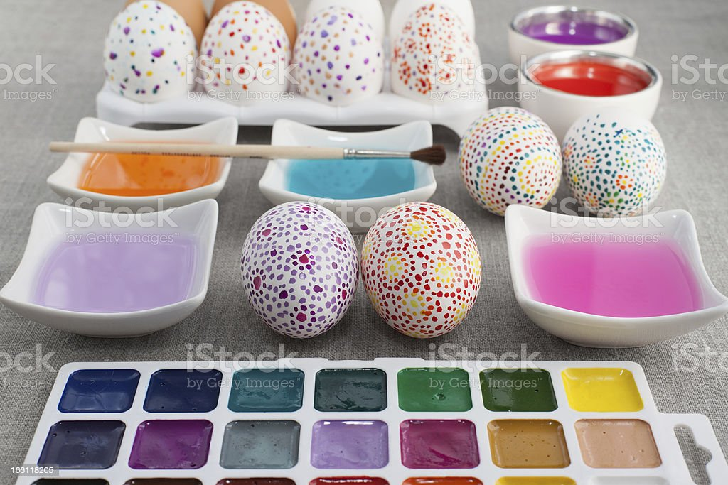 Decoration Easter eggs royalty-free stock photo