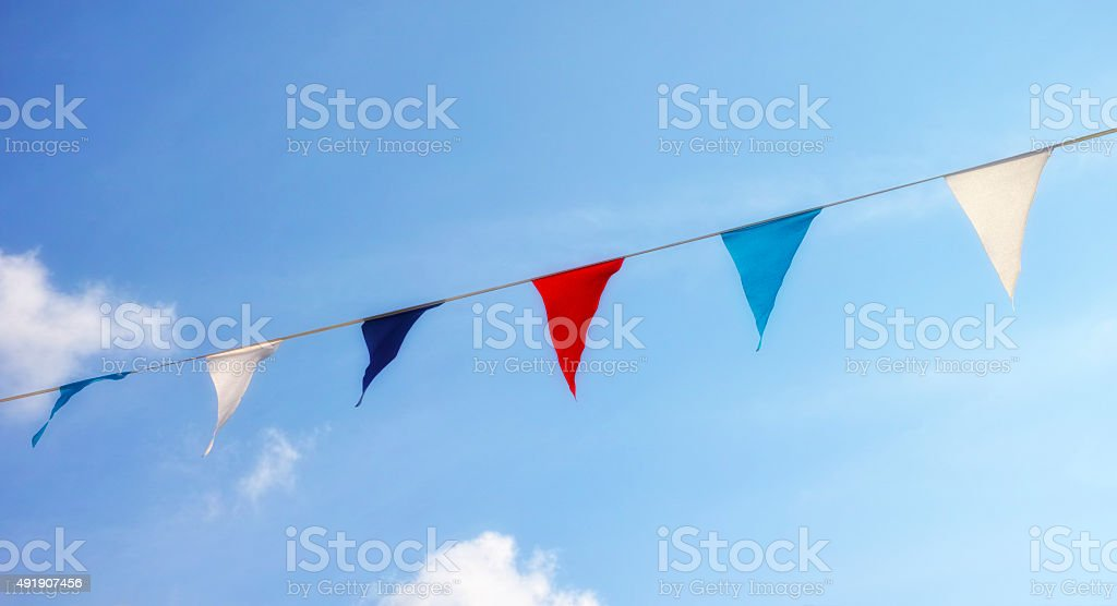 Decoration flags stock photo