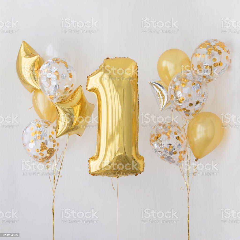 Decoração para aniversário de 1 anos, aniversário - foto de acervo