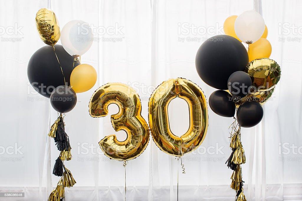 Decoración de 30 años, cumpleaños, aniversarios. - foto de stock