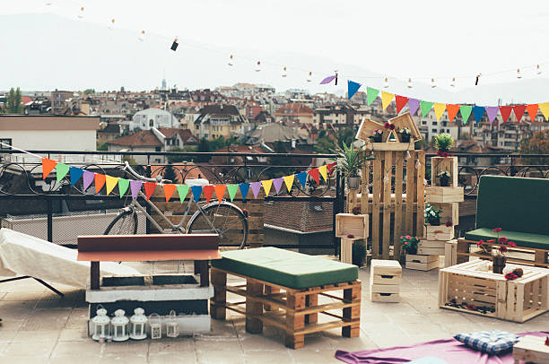 Decoration for a roof party - Photo