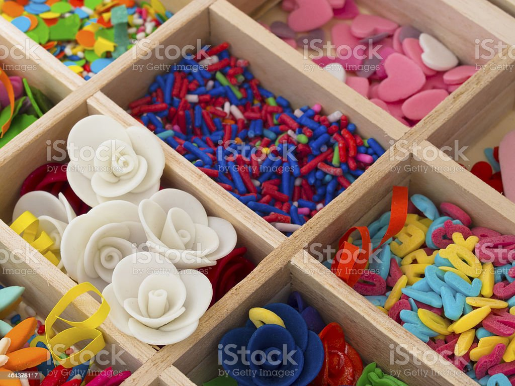 decoration for cakes stock photo