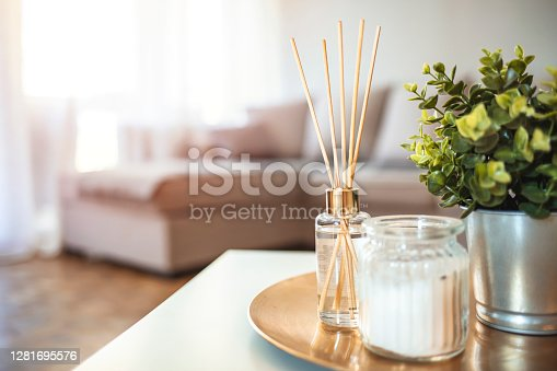 istock Decoration, hygge and aromatherapy concept 1281695576